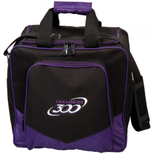 C300 White Dot Tote Purple